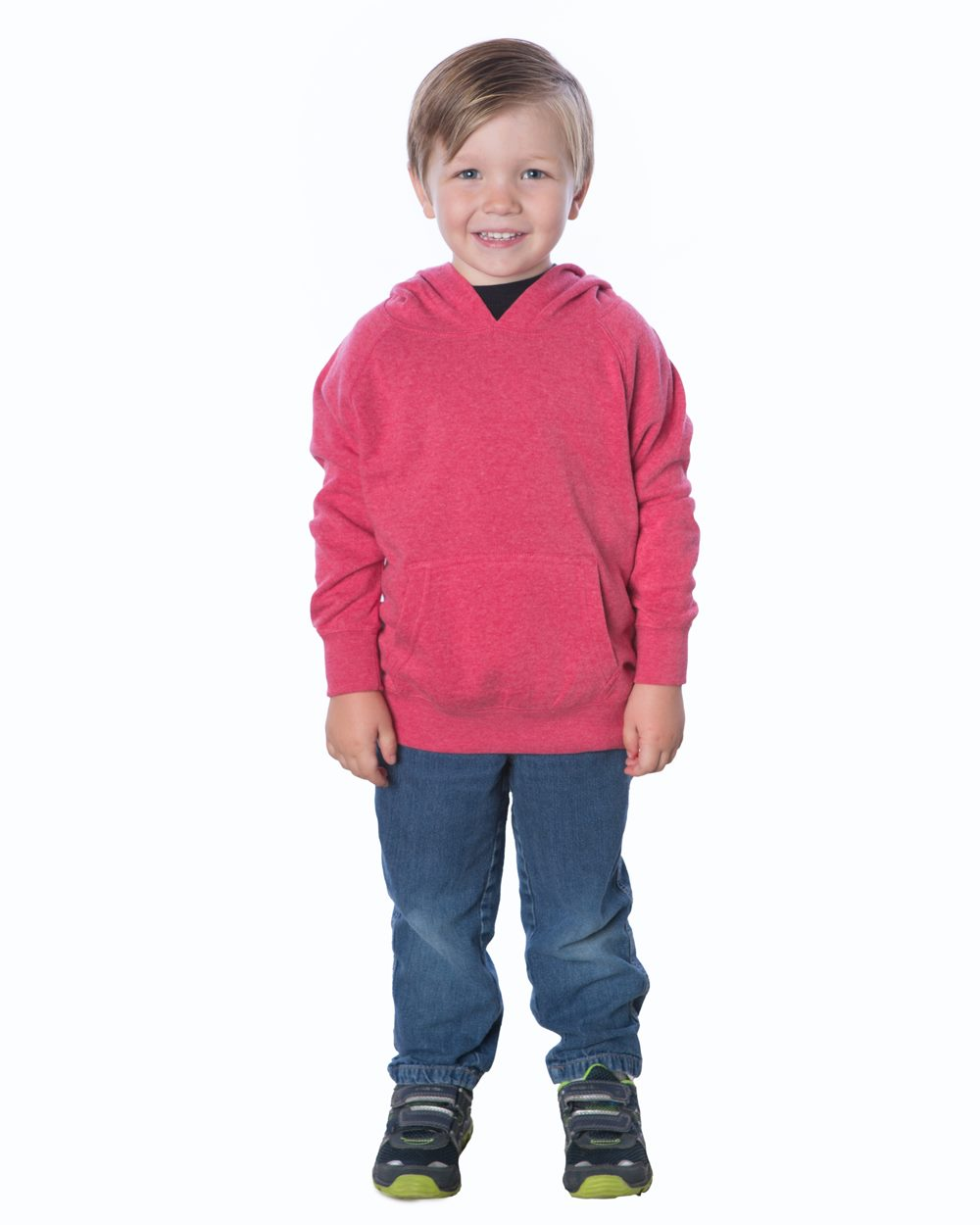 Independent Trading Co. PRM10TSB - Toddler Special Blend Raglan Hooded Pullover Sweatshirt
