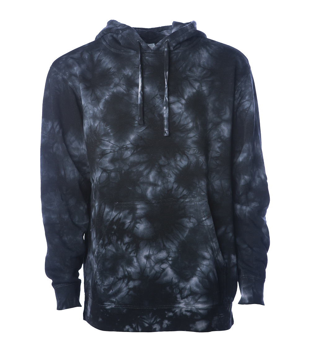 Independent Trading Co. PRM4500TD - unisex Midweight Tie Dyed Hooded Pullover