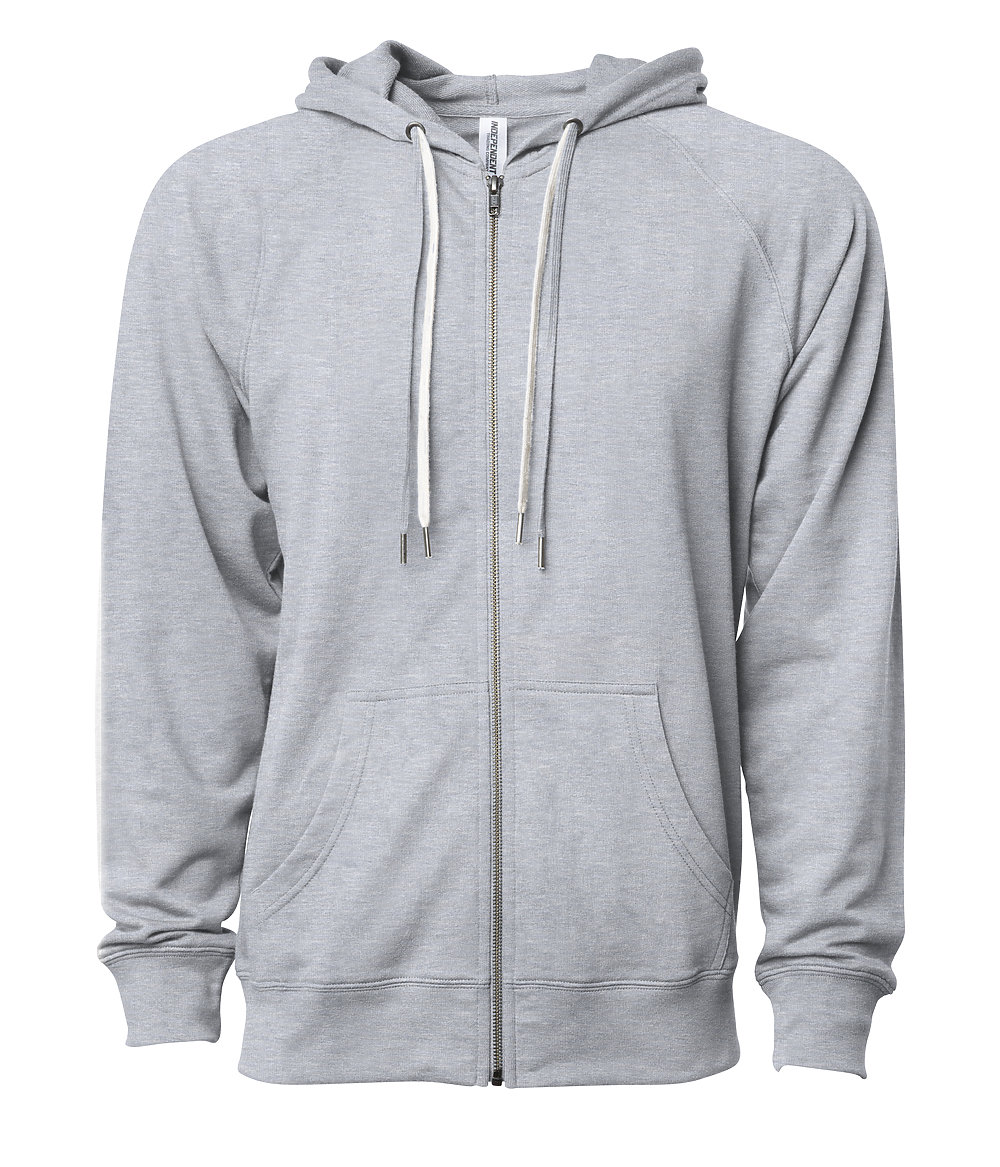Independent Trading Co. SS1000Z - Unisex Lightweight Loopback Terry Zip Hood