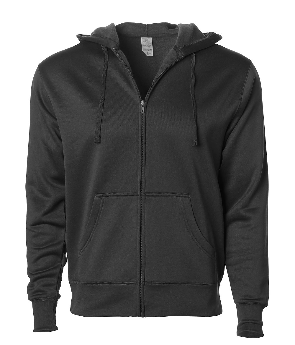 Independent Trading Co. EXP444PZ - Poly-Tech Zip Hooded ...
