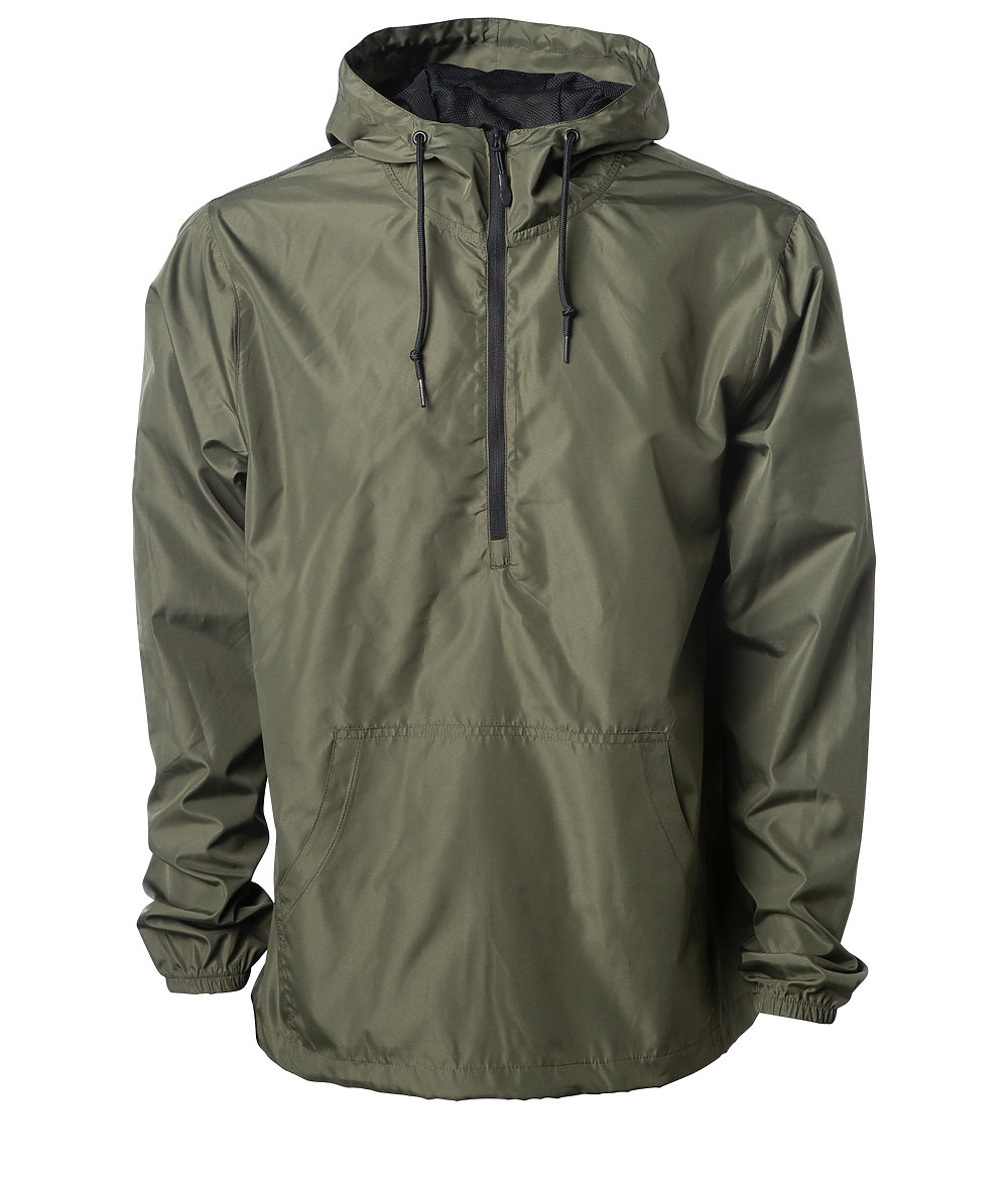 Independent Trading Co. EXP54LWP - Lightweight Pullover Windbreaker Anorak Jacket
