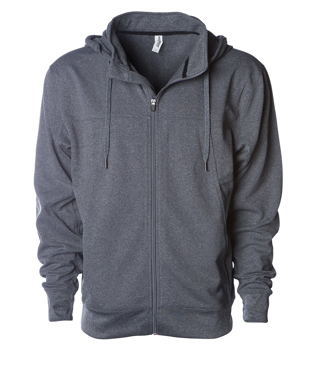 Independent Trading Co. EXP80PTZ - Poly-Tech Zip Hooded Sweatshirt