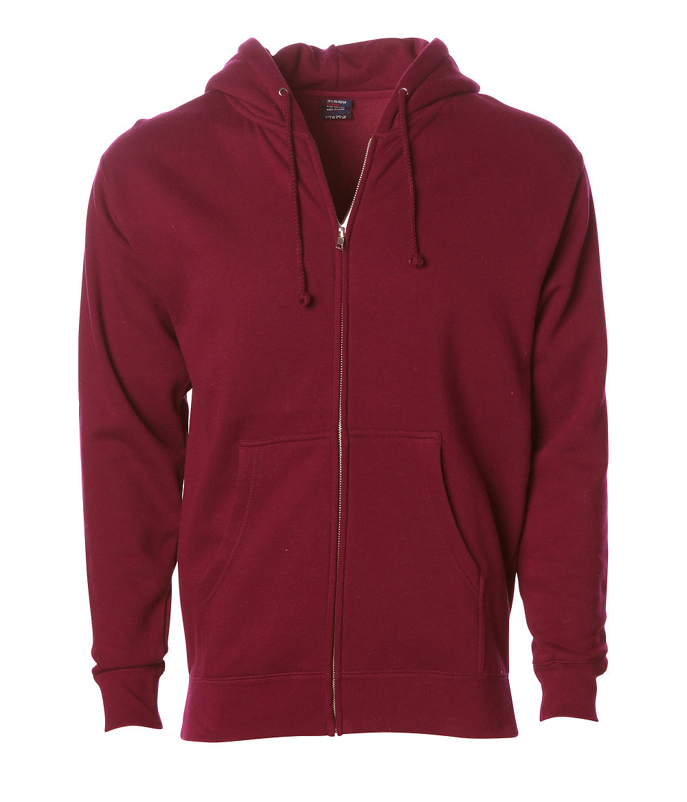 Independent Trading Co. IND4000Z - Heavyweight Zip Hooded ...
