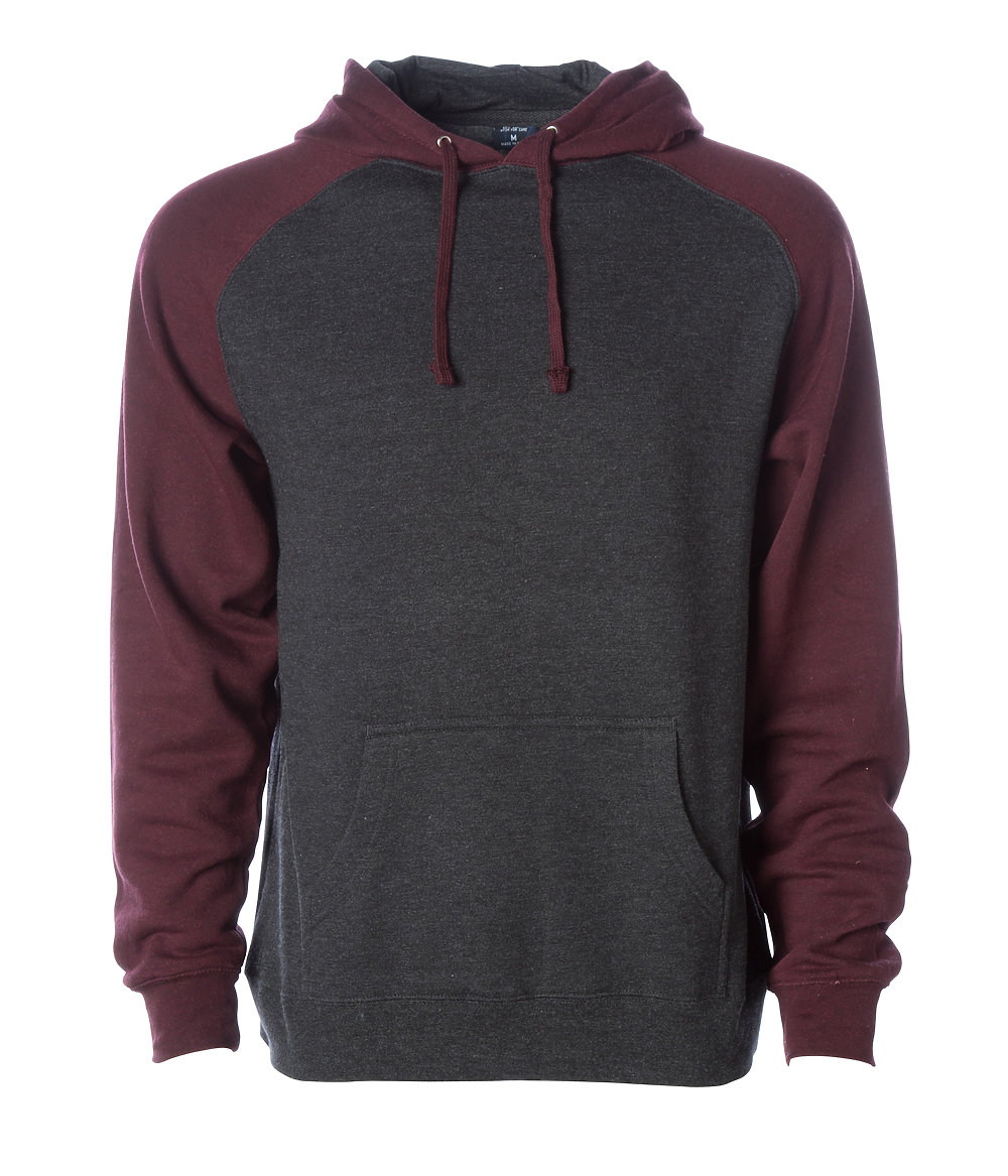 Independent Trading Co. IND40RP - Raglan Hooded Pullover ...