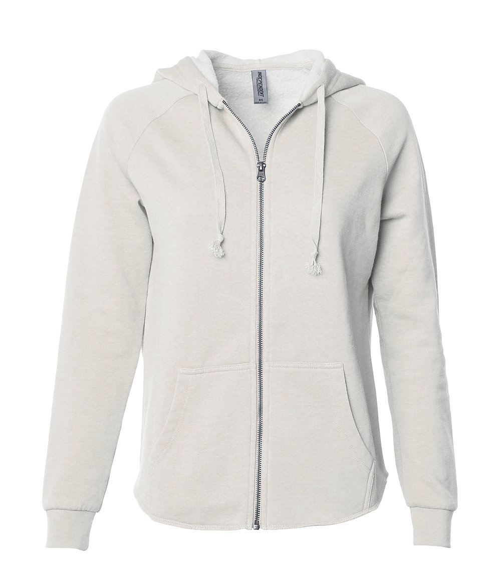 Independent Trading Co. PRM2500Z - Women's California Wave Wash Zip Hood