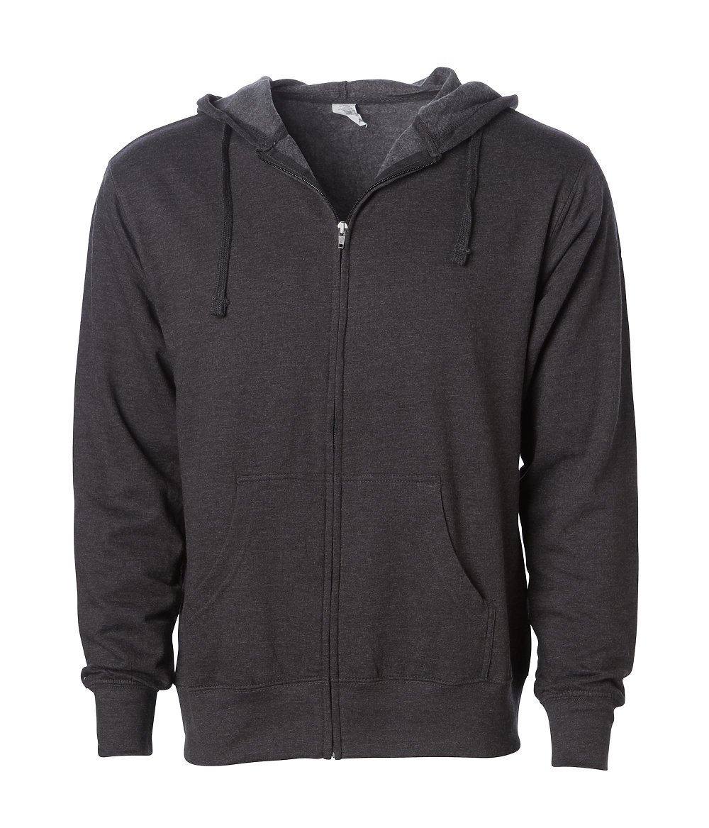 Independent Trading Co. SS2200Z - Lightweight Zip Hooded ...