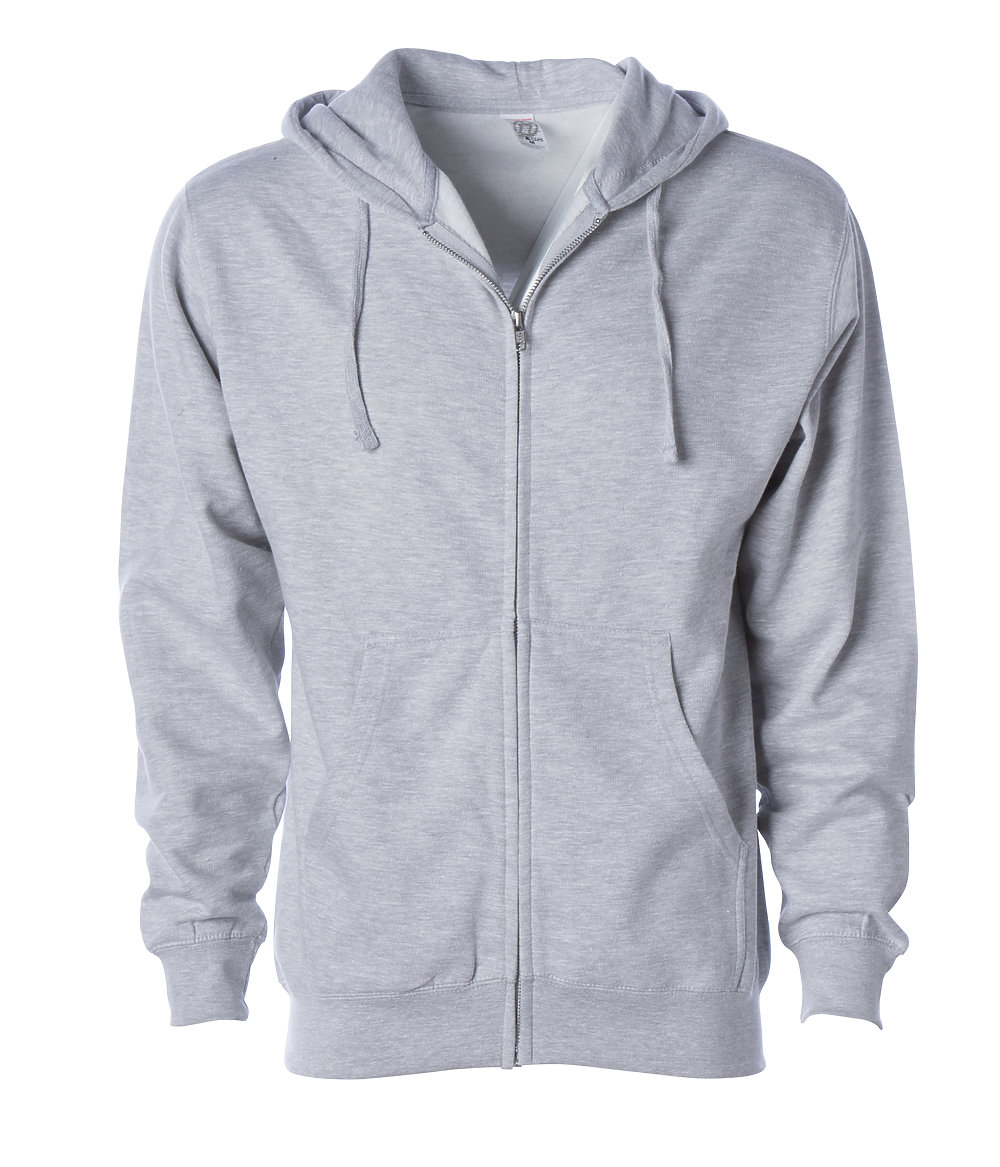 Independent Trading Co. SS4500Z - Midweight Zip Hooded ...