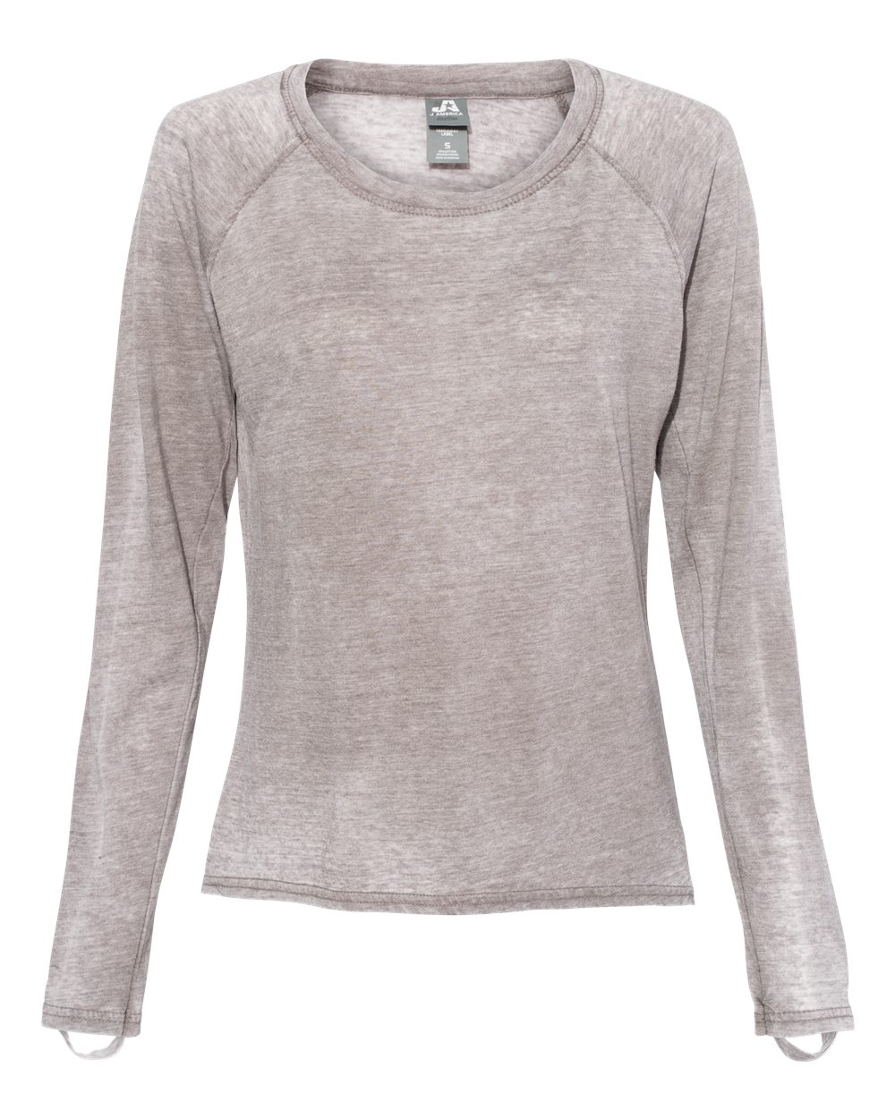 J. America - 8118 - Women's Zen Jersey Hi-Low Long Sleeve T-Shirt