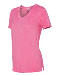J. America 8132 - Women's Oasis Wash V Neck Tee Shirt
