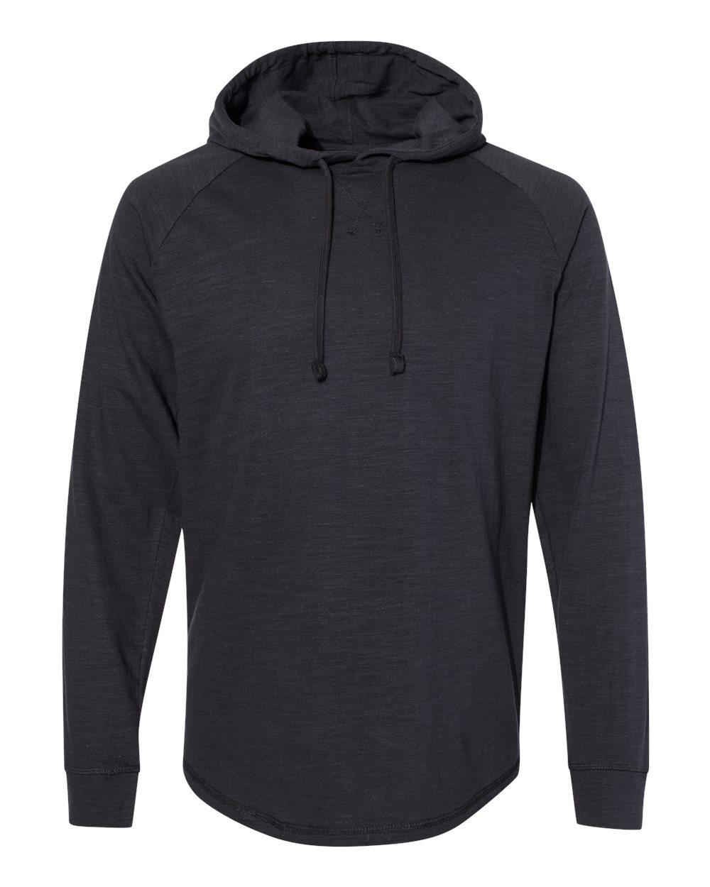 J. America - 8245 - Vintage Slub Knit Hooded Long Sleeve Pullover