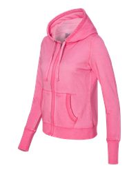 J. America 8665 - Women's Oasis Wash French Terry Hooded ...