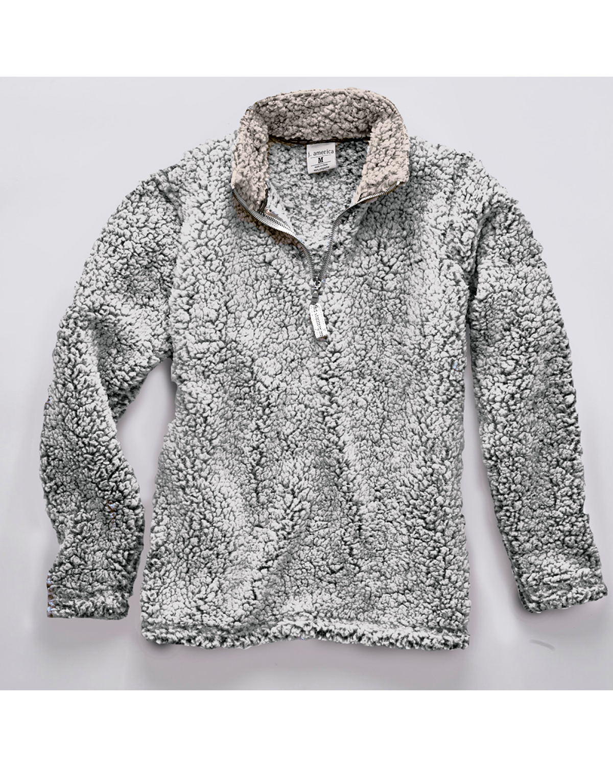 J. America 8454 - Adult Epic Sherpa Quarter-Zip