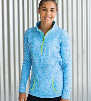 J AMERICA J8617 - LADIES' COSMIC QUARTER ZIP FLEECE