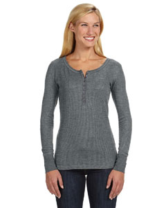 J America JA8252 - Ladies' Thermal Henley