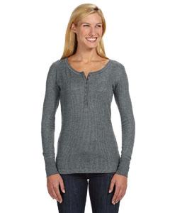 6c361c68e15b9d J America JA8252 - Ladies  Thermal Henley  14.10 - Women s T-Shirts