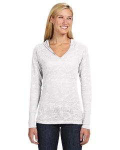 J America JA8254 - Ladies' Jersey Burnout Hooded T-Shirt