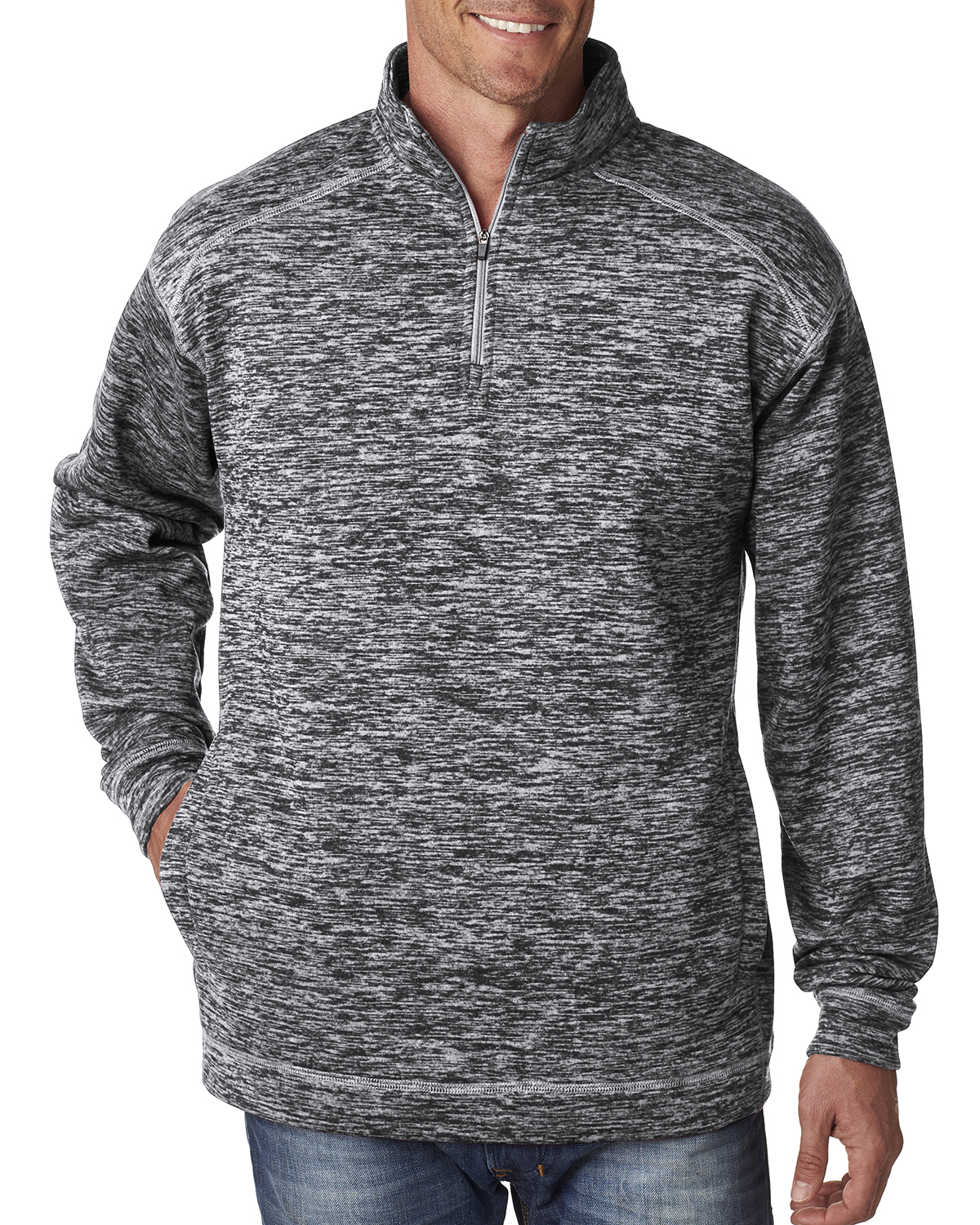 J.America JA8614 - Adult Cosmic 1/4-Zip Fleece