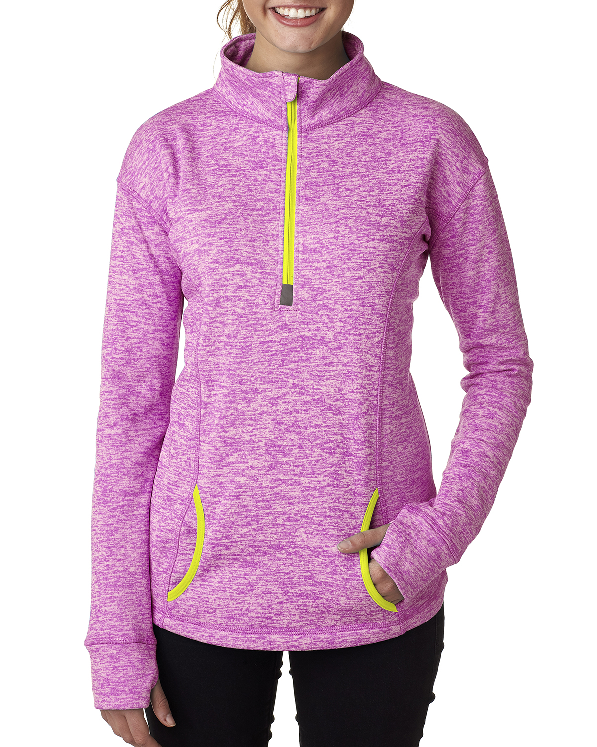 J.America JA8617 - Ladies' Cosmic Quarter Zip Fleece