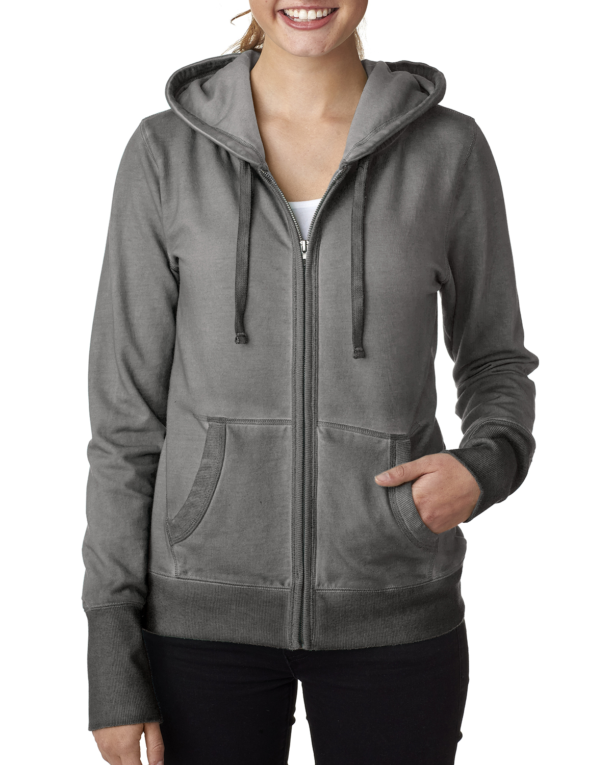 J.America JA8665 - Ladies' Oasis Wash Full-Zip Hooded ...
