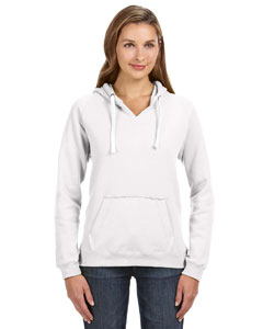J America JA8836 - Ladies' Sydney Brushed V-Neck Hood