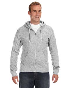 J America JA8872 - Triblend Full-Zip Fleece Hood