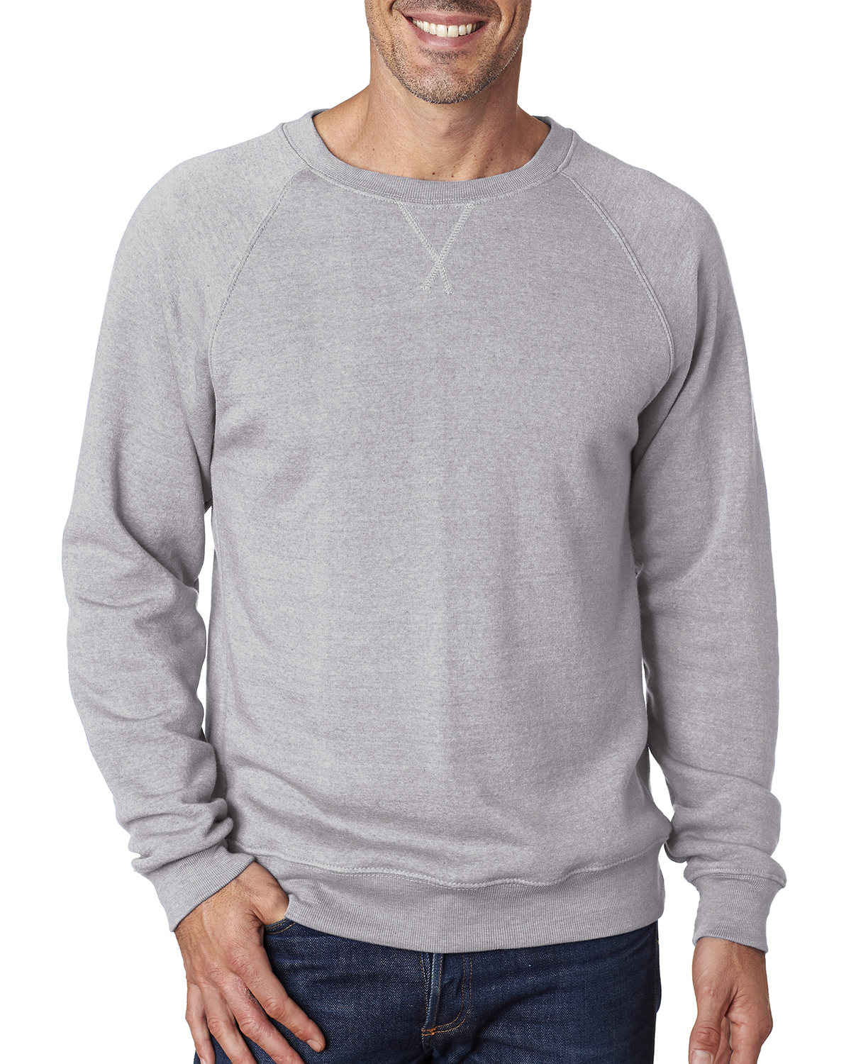 J.America JA8875 - Adult Tri-Blend Fleece Crew