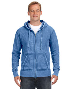 J America JA8916 - Vintage Zen Full-Zip Fleece Hood