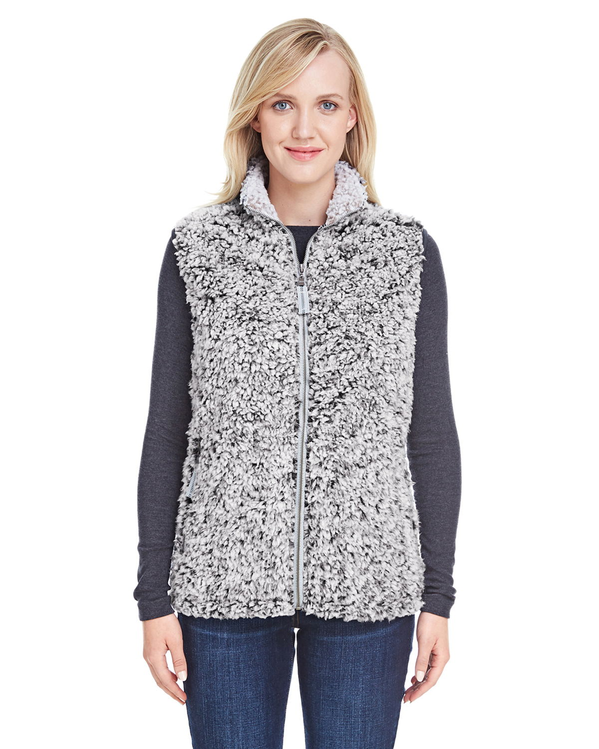 J. America 8456 - Ladies Epic Sherpa Vest