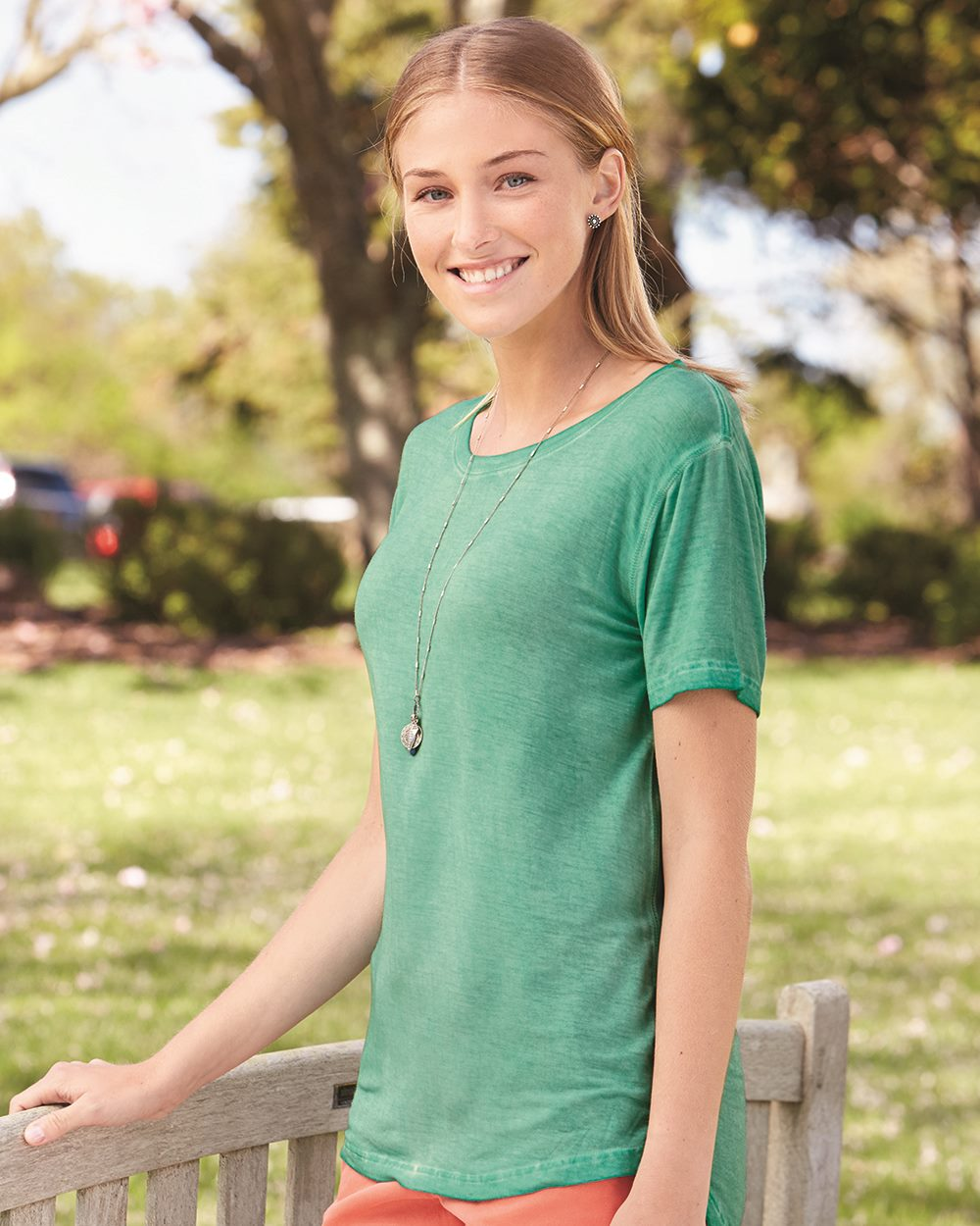 J.America 8127 - Women's Oasis Wash Drop Tail T-Shirt