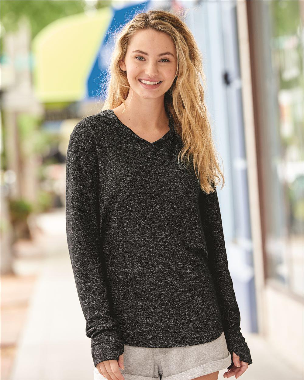 J. America 8655 - Cozy Fleece Women's Hooded Pullover