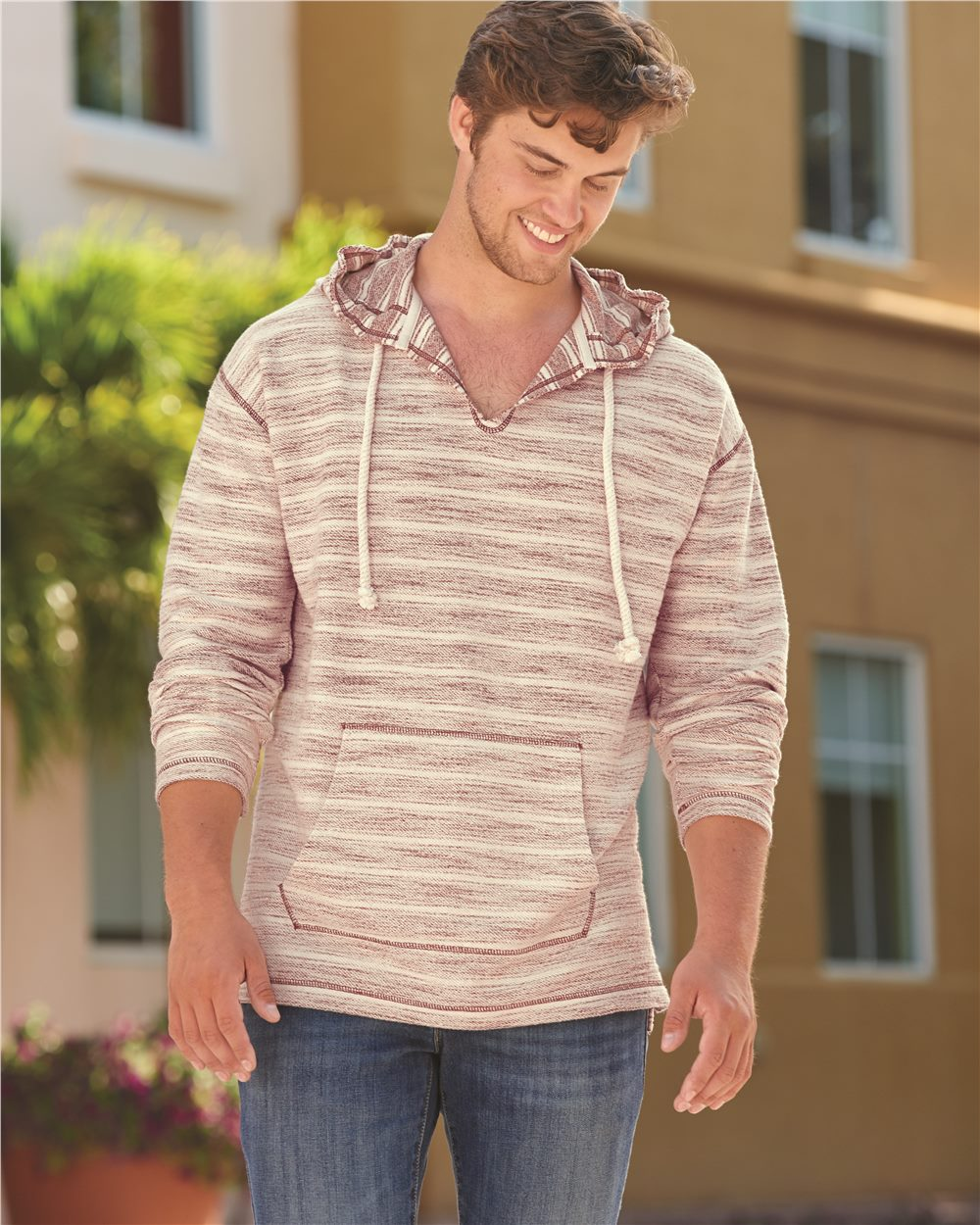 J. America 8692 - Baja French Terry Hooded Pullover