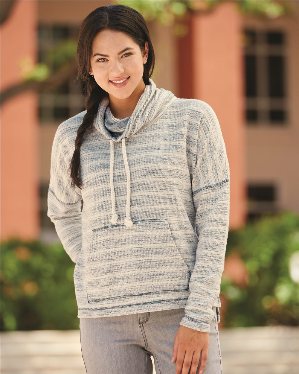 J. America 8693 - Baja Women's French Terry Cowlneck Pullover