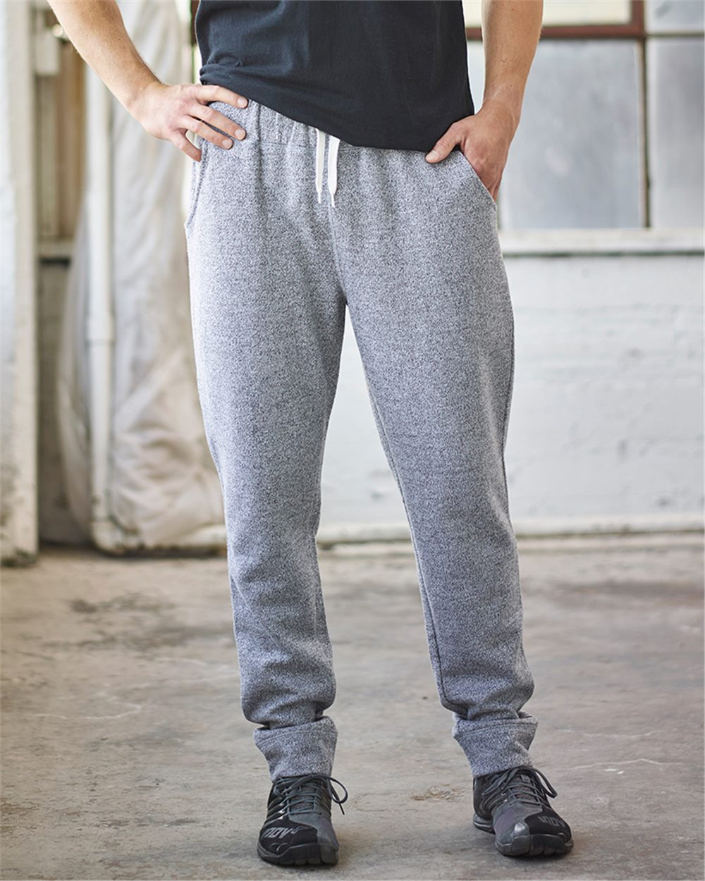 J. America 8705 - Peppered Fleece Jogger