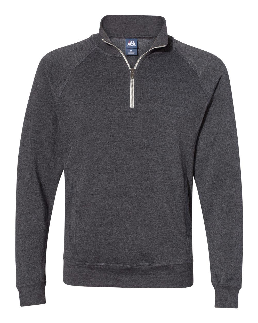 J. America 8869 - Triblend 1/4 Zip Pullover Sweatshirt