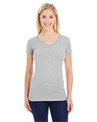 J.America JA8136 - Ladies' Ladies Glitter V-Neck T-Shirt