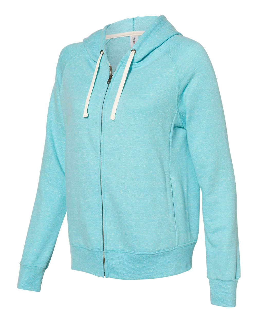 Jerzees 92WR - Women's Snow Heather French Terr Full ...