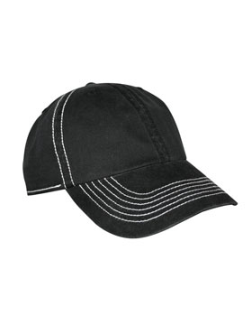 KC Caps 8360 - Contrast Stitch Brushed Twill Cap
