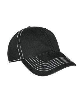 KC Caps 8360 - Contrast Stitch Brushed Twill Cap