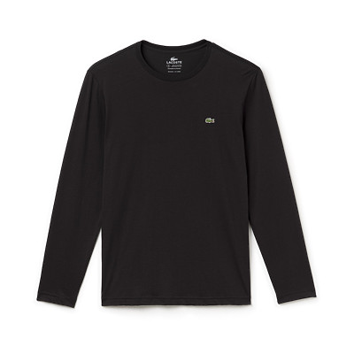 Lacoste TH5276 - Men's Pima Jersey Long Sleeve Crewneck ...