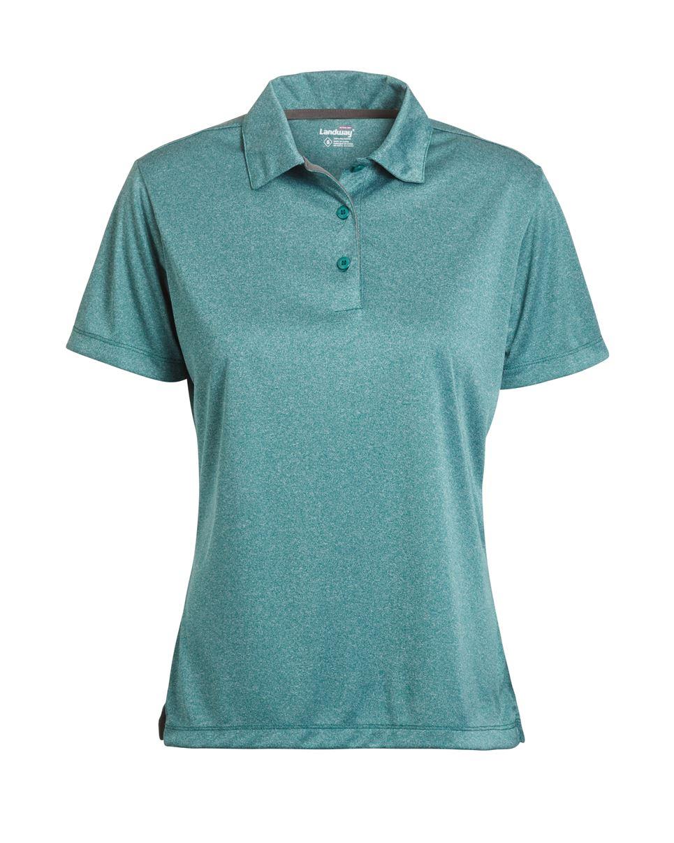 Landway 1149 - Ladies Vertex Heathered Knit Shirt
