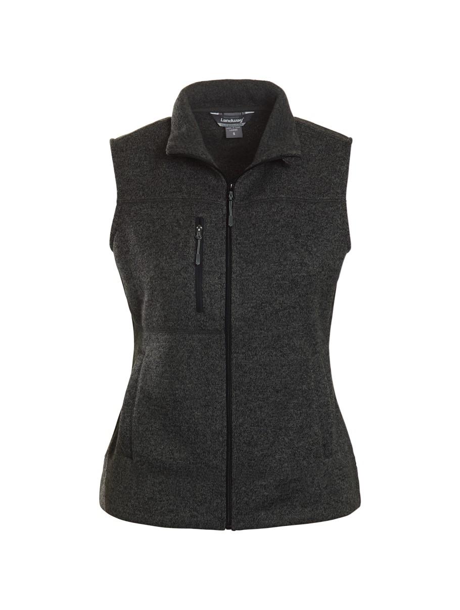 Landway 9825 - Ladies Ashton Vest Sweater-knit Fleece