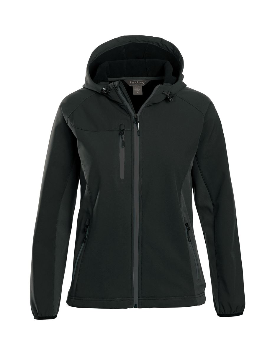 Landway 9987 - Ladies Mckinley Hooded Soft-shell Jacket