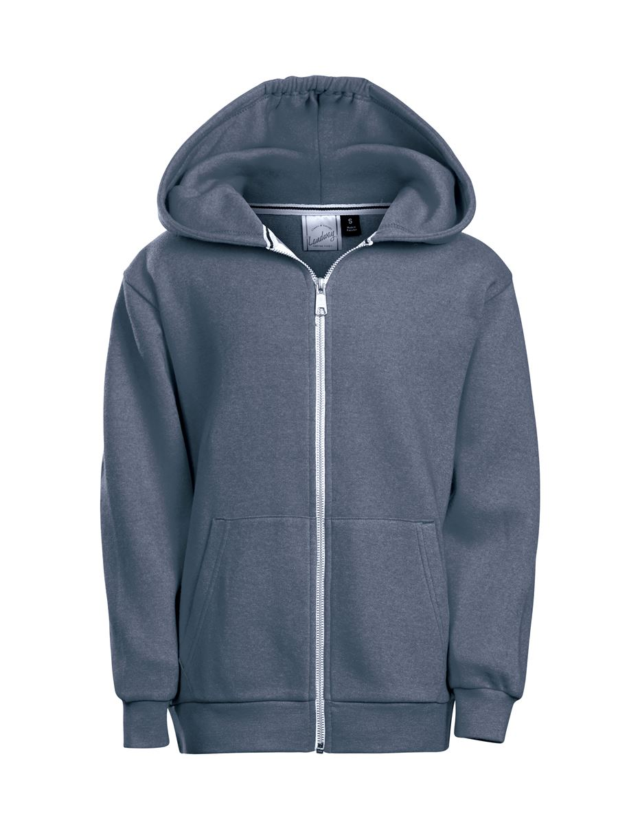 Landway CF-01K - Youth Parker Cotton Poly Fleece Hoodie