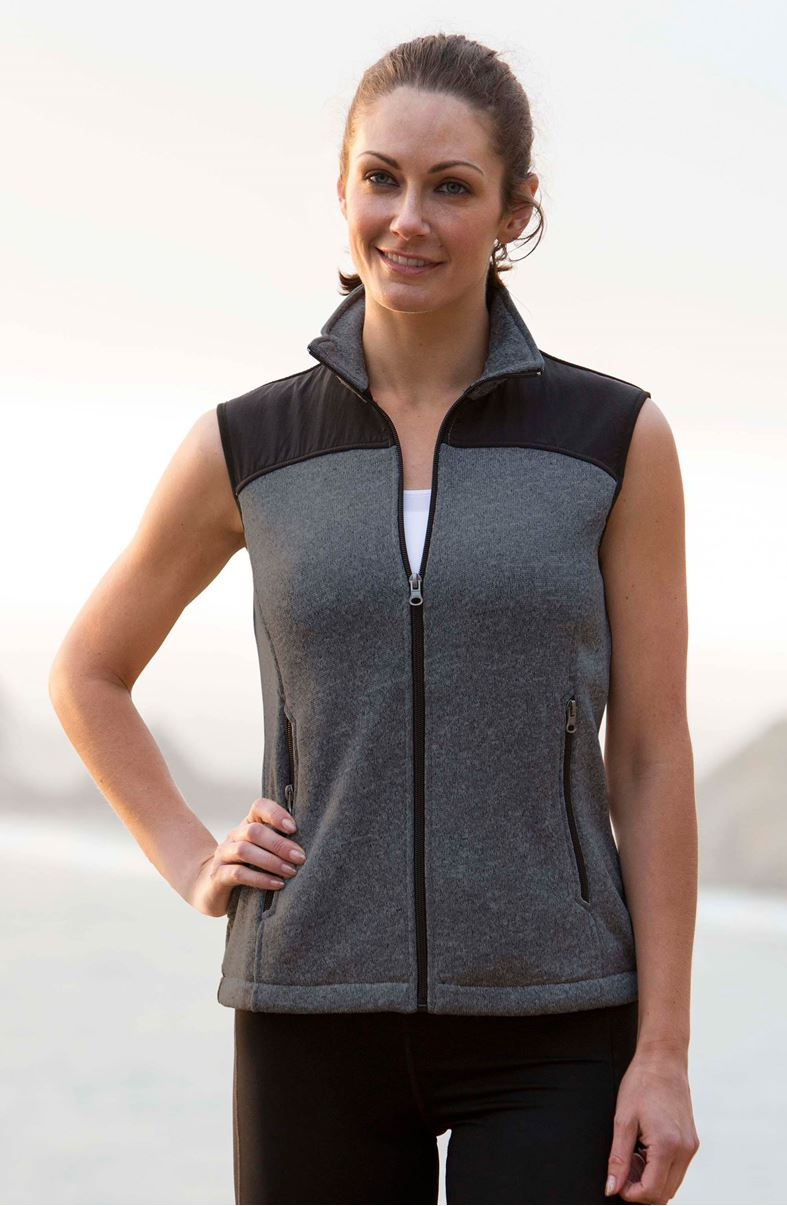 Landway 9875 - Ladies Capitan Sweater Fleece Vest