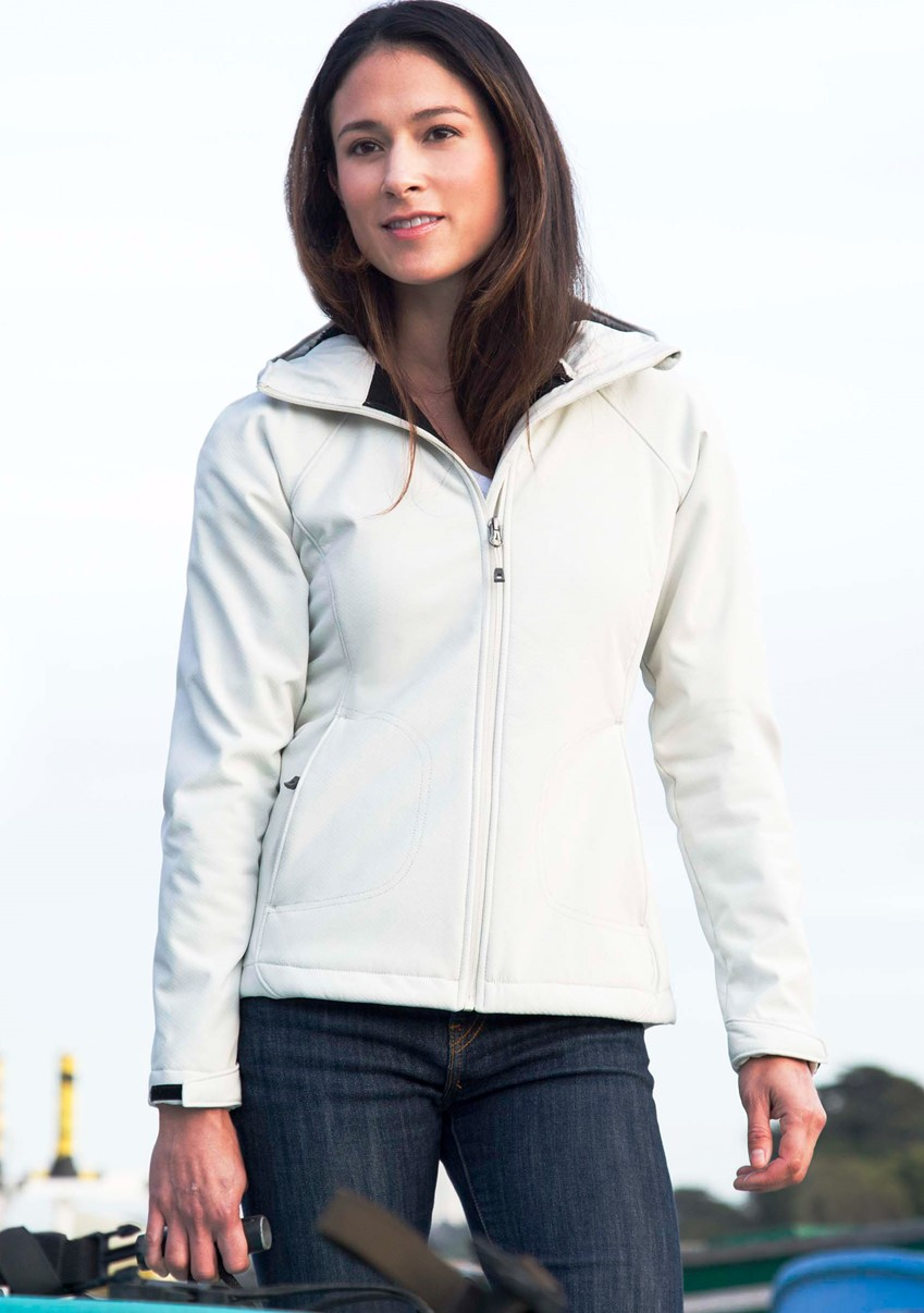 Landway 9932 - Ladies Shepra Hooded Matrix Soft-Shell ...
