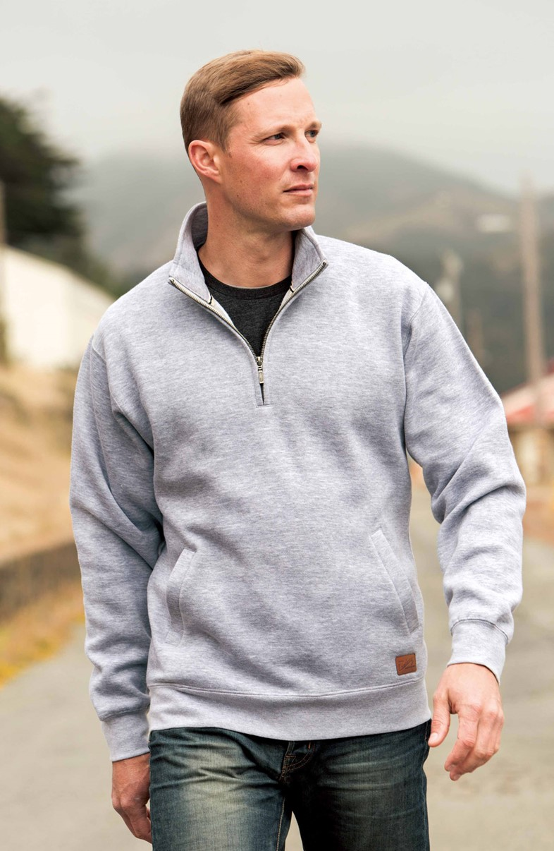 Landway CF-03 - Men's Rockridge 1/4 Zip Cotton Sweatshirt
