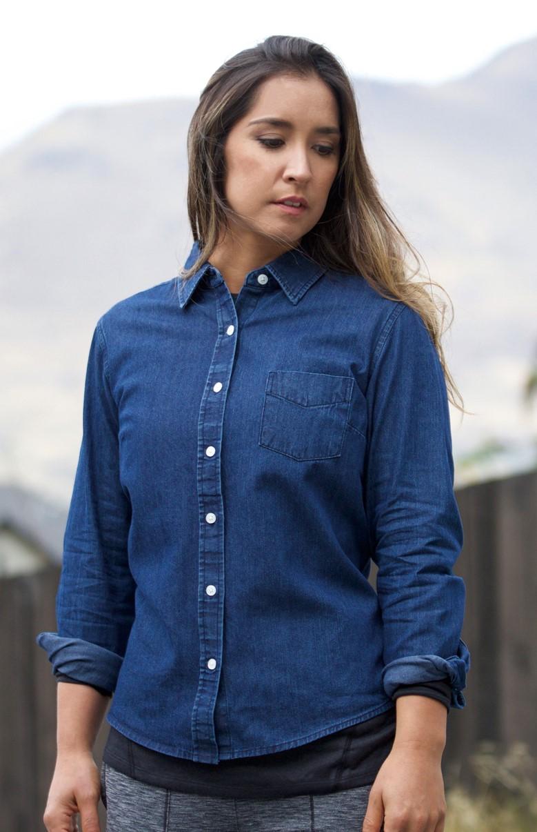 Landway WS-22 - Ladies Renegade Premium Denim Workshirt