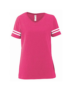 LAT Drop Ship 3537 - Ladies' Fine Jersey Football Tee