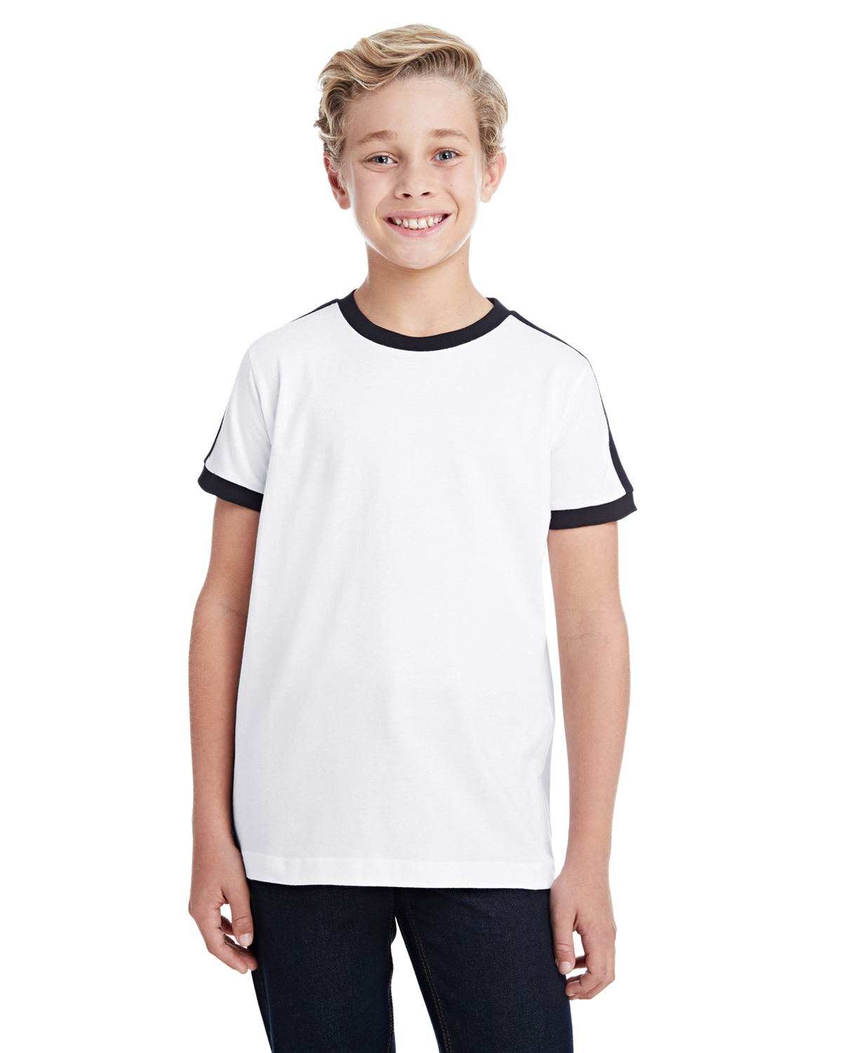 LAT 6132 - Youth Soccer Ringer Fine Jersey T-Shirt