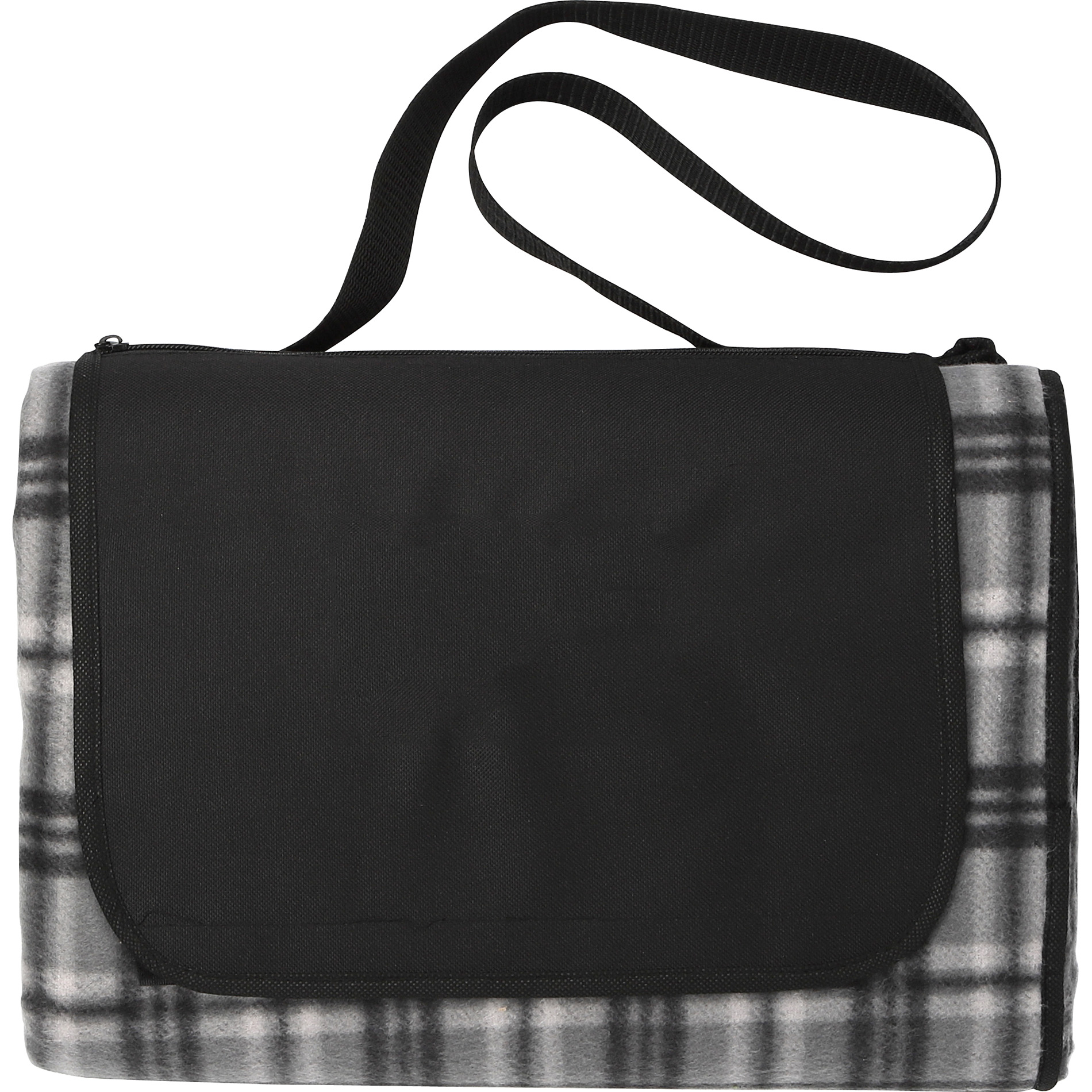 LEEDS 1081-41 - Extra Large Plaid Picnic Blanket Tote